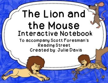 The Lion and the Mouse Interactive Notebook Journal