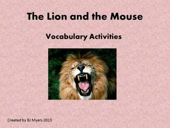 The Lion and the Mouse Vocabulary Unit