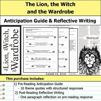 The Lion, the Witch and the Wardrobe - Anticipation Guide