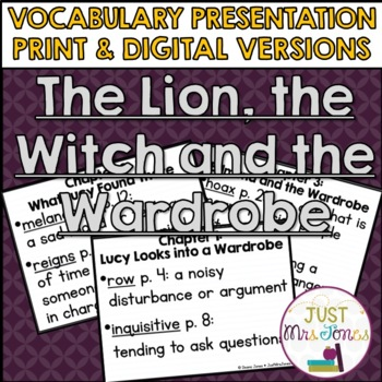 The Lion, the Witch and the Wardrobe Vocabulary Presentation