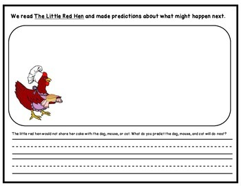 The Little Red Hen {writing activity}
