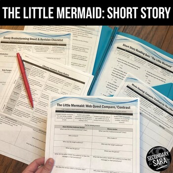 The Little Mermaid: Compare/Contrast Movie & Reading Unit