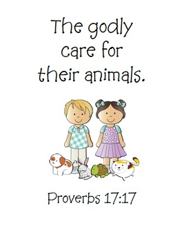 The Little Rabbit (Proverbs 17:17) Bible Verse Printables