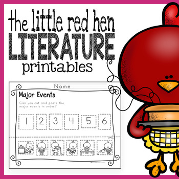 The Little Red Hen Literacy Printables