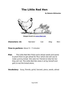 The Little Red Hen - Small Group Reader's Theater