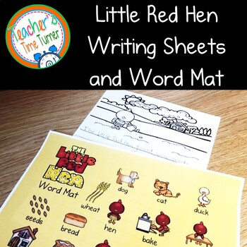 The Little Red Hen writing papers and bonus wordmat