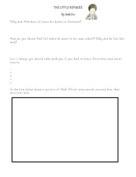 The Little Refugee By Anh Do - Comprehension Worksheet (Di