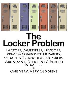 The Locker Problem: Factors, Multiples, Primes, Composites