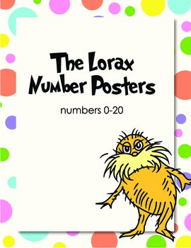 The Lorax Number Posters