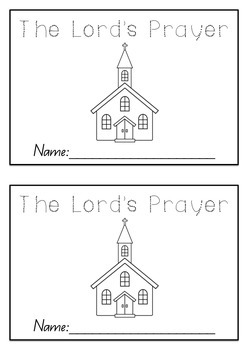 The Lord's Prayer Booklet