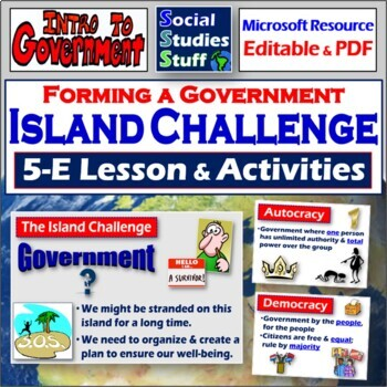 """The """"Lost"""" Island Activity- Why do we have governments?"""