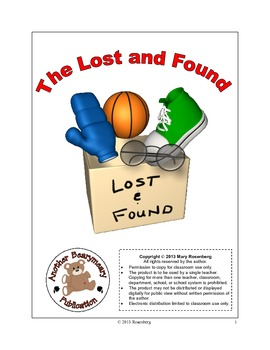 The Lost and Found Language Arts Activities and Standardiz