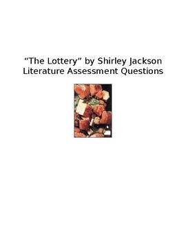"""""""The Lottery"""" Literature Test Questions"""