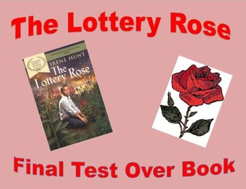 The Lottery Rose by Irene Hunt Final Test