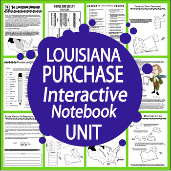 Louisiana Purchase Interactive Notebook Unit