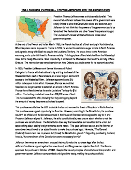 Info Read Text - The Louisiana Purchase and Thomas Jeffers