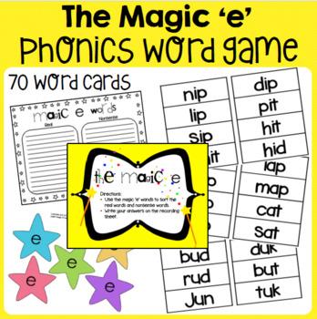 The Magic 'E' : Literacy Center : Word Work Activity