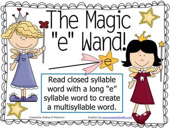 "The Magic ""E"" Wand using Multisyllable Words"