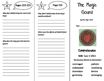 The Magic Gourd Trifold - California Treasures 6th Grade U