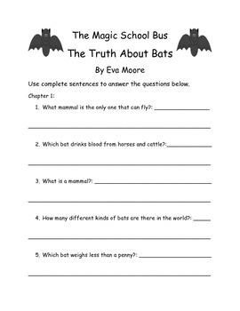 The Magic School Bus The Truth About Bats By Eva Moore Com