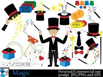 The Magic Show Digital Clip Art Graphics 47 images cod20