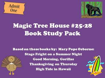 The Magic Tree House #25-28 Book Study Pack