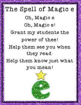 The Magic e Spell