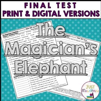 The Magician's Elephant Final Test