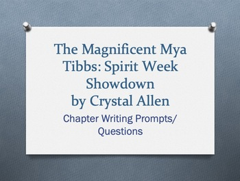 The Magnificent Mya Tibbs: Spirit Week Showdown Packet