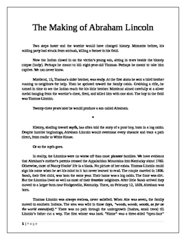 The Making of Abraham Lincoln