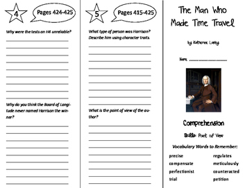 The Man Who Made Time Travel Trifold - Storytown 6th Grade