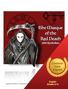 the masque of the red death complete common by teaching with owls teachers pay teachers. Black Bedroom Furniture Sets. Home Design Ideas