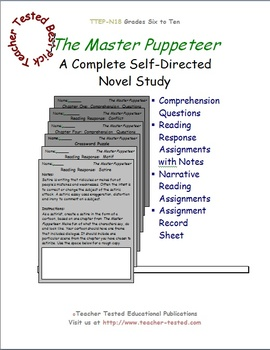The Master Puppeteer: A Complete Novel Study