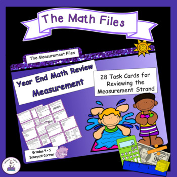 Math Review Files - Measurement Review Task Cards