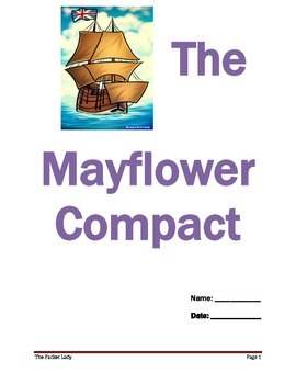 """""""The Mayflower Compact"""" 5 Paragraph Essay - Scaffolded Wri"""