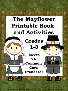 Mayflower  & Pilgrim Printable Book and Activities