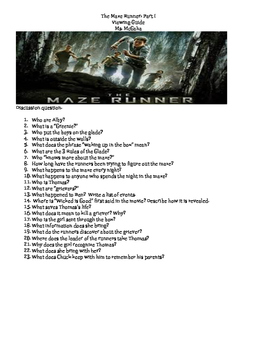 The Maze Runner Viewing Guide