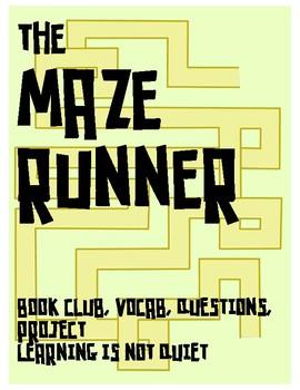 The Maze Runner by James Dashner Book Club (Guide, Vocab,