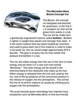 The Mercedes Benz Biome Concept Car