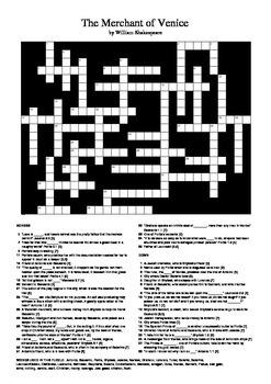 The Merchant of Venice - Crossword Puzzle