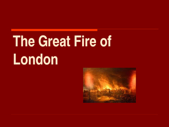 The Middle Ages - The Great Fire of London of 1666