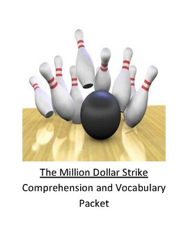 The Million Dollar Strike Comprehension and Vocabulary Packet