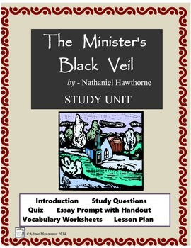The Minister's Black Veil:  Study Questions, Quiz, Lesson Plan