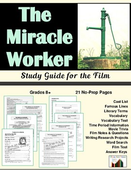 The Miracle Worker: The Study Guide for the Film (18 Pages