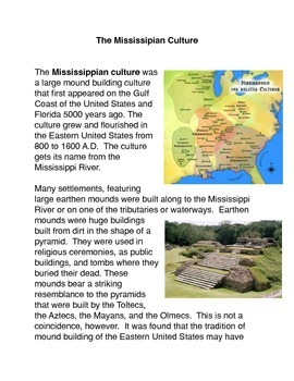 The Mississippian Culture Common Core Activity