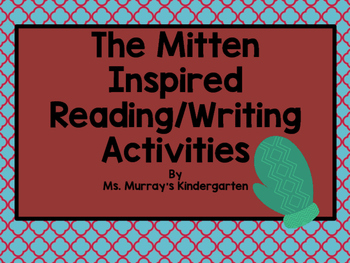 The Mitten Inspired Reading and Writing Activity