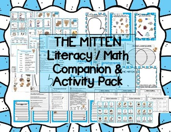 """The Mitten"" Literacy & Math Companion / Activity Pack Jan"