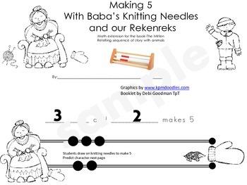 The Mitten-Ways to make 5 using the rekenrek student booklet