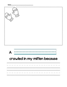 """The Mitten"" Writing Prompt"