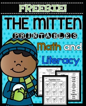 The Mitten by Jan Brett FREEBIE!  Printables